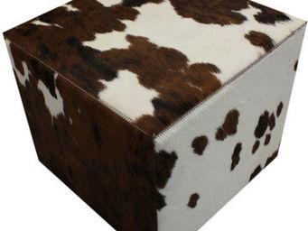 Tergus - pouf vache naturel normande - Pouf