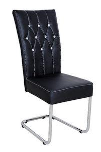 COMFORIUM - chaise design coloris noir avec strass - Chaise