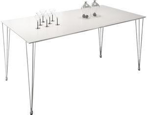 COMFORIUM - table design rectangulaire 180 cm coloris blanc ma - Table De Repas Rectangulaire