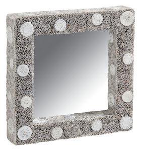 Aubry-Gaspard - miroir carré en papier recyclé - Miroir