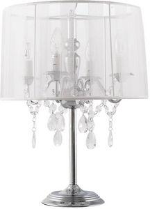KOKOON DESIGN - lampe à poser avec abat-jour en tissu blanc diamon - Lampe À Poser