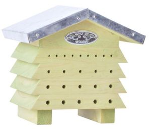 BEST FOR BIRDS - refuge à abeilles en bois et zinc - Ruche