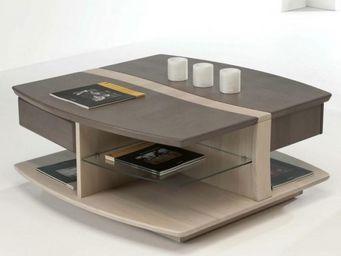 Ateliers De Langres - table basse carrée oceane - Table Basse Carrée