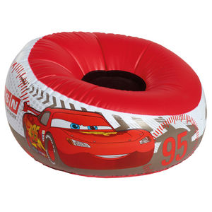 COMFORIUM - pouf gonflable design disney cars rouge - Pouf Enfant