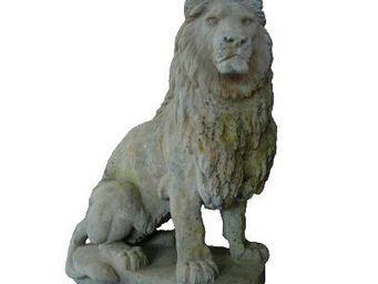 TERRES D'ALBINE - lion - Sculpture Animali�re