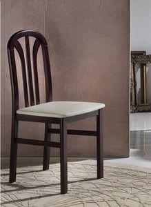 WHITE LABEL - chaise mery wengé assise en microfibre écru - Chaise