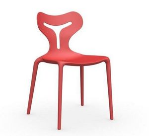 Calligaris - chaise empilable area 51 de calligaris rouge - Chaise