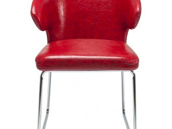 Kare Design - chaise atomic rouge - Chaise