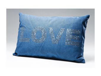 Kare Design - coussin love studs bleu 40x60 - Coussin Rectangulaire