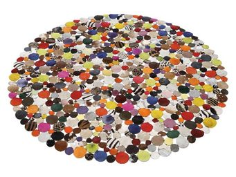 Kare Design - tapis patchwork circle multi 150 cm - Tapis Contemporain