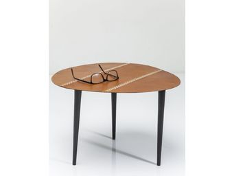 Kare Design - table d appoint egg cuir 46x50cm - Table D'appoint