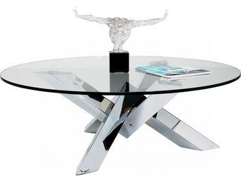 Kare Design - table basse ronde crystal eco - Table Basse Ronde