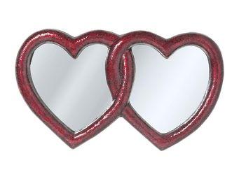 Kare Design - miroir mosaik double heart 100x165 cm - Miroir
