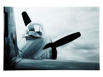 Kare Design - tableau en verre airplane 80x120cm - Tableau Décoratif