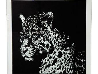 Kare Design - tableau frame miroir leopard - Tableau Décoratif