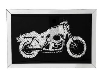 Kare Design - tableau mirror motorbike 120x80 - Tableau Décoratif