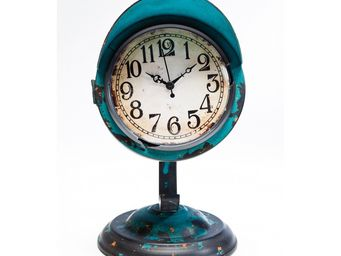 Kare Design - horloge de table scooter bleu clair - Horloge À Poser