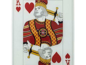Kare Design - tableau king of hearts 90x66 - Tableau Décoratif