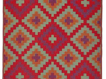 FABHABITAT - tapis intérieur extérieur saman orange et violet m - Tapis Contemporain