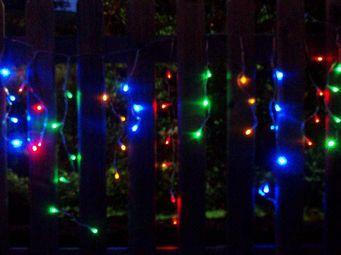 FEERIE SOLAIRE - guirlande solaire 80 leds multicolores rideau 3m80 - Guirlande Lumineuse