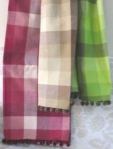 ITI  - Indian Textile Innovation - checks - Jeté De Lit