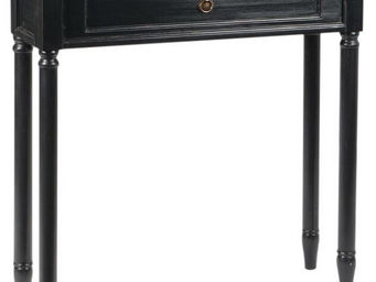 Amadeus - console faux tiroir en bois brice noir - Console
