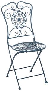 Aubry-Gaspard - chaise de jardin pliante en métal - Fauteuil De Jardin