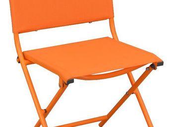 PROLOISIRS - chaise pliante textilène et acier (lot de 2) orang - Chaise De Jardin Pliante