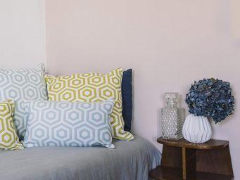 BAILET - coussin déco graphique - 50x50 cm - jaune safran  - Coussin Carré