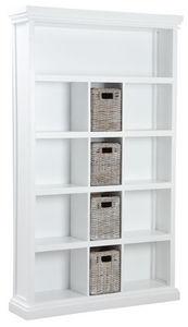 Aubry-Gaspard - bibliothèque en manguier avec tiroirs en poelet - Bibliothèque Ouverte