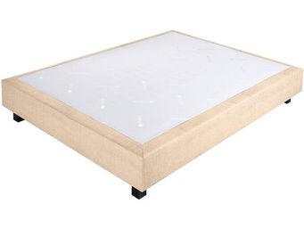 CROWN BEDDING - sommier ressorts chambly tissu beige 90x200 beige  - Sommier Fixe À Ressorts
