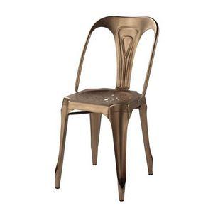 Demeure et Jardin - chaise en métal style vintage industriel - Chaise