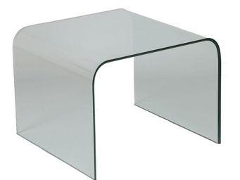 WHITE LABEL - bout de canapé en verre - bright - l 65 x l 65 x h - Bout De Canapé