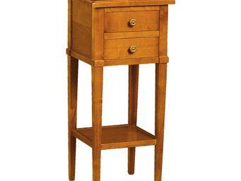 WHITE LABEL - table de chevet 2 tiroirs - mireille - l 31 x l 30 - Table De Chevet