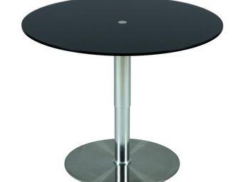 WHITE LABEL - table à hauteur variable noir - stratos - diamètre - Table D'appoint