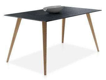 WHITE LABEL - table de repas plateau imitation pierre - pierra - - Table De Repas Rectangulaire