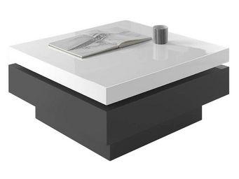 WHITE LABEL - table basse - sevil - l 80 x l 80 x h 36 - bois - Table Basse Rectangulaire