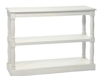WHITE LABEL - console blanche - eve - l 108 x l 37 x h 114 - boi - Console