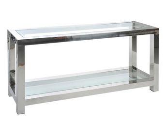 WHITE LABEL - console métal - gloss - l 140 x l 40 x h 70 - méta - Console