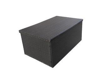 WHITE LABEL - coffre de rangement noir - nokanhu - l 132 x l 82  - Coffre De Jardin