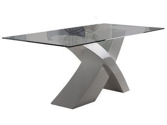 WHITE LABEL - table de repas piétement blanc - takis - l 180 x l - Table De Repas Rectangulaire