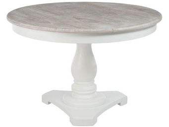 TOUSMESMEUBLES - table de repas ronde - regus - l 120 x l 120 x h 7 - Table De Repas Ronde