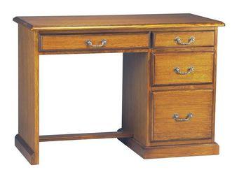WHITE LABEL - bureau 4 tiroirs - antoine - l 110 x l 51 x h 77 - - Bureau