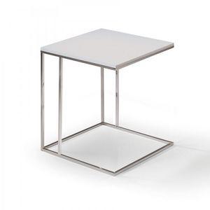 WHITE LABEL - lamina bout de canapé gris - Bout De Canapé