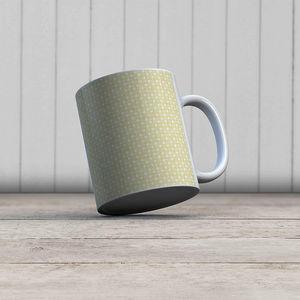 la Magie dans l'Image - mug trèfle jaune blanc - Mug