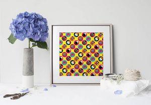 la Magie dans l'Image - print art héros pattern jaune - Tableau Décoratif
