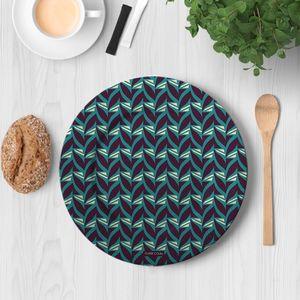 la Magie dans l'Image - assiette abstrait fifties celadon - Assiette De Présentation