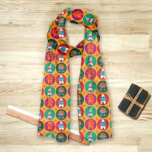 la Magie dans l'Image - foulard héros pattern orange - Foulard Carré