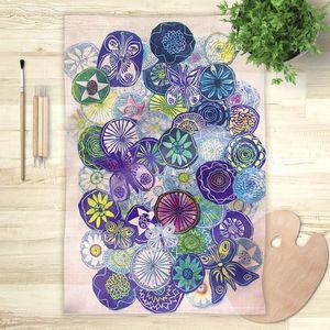 la Magie dans l'Image - foulard jardin bleu - Foulard Carré