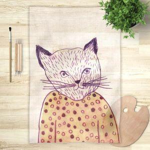 la Magie dans l'Image - foulard mon petit chat - Foulard Carré